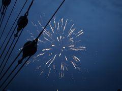 Feuerwerk an Bord