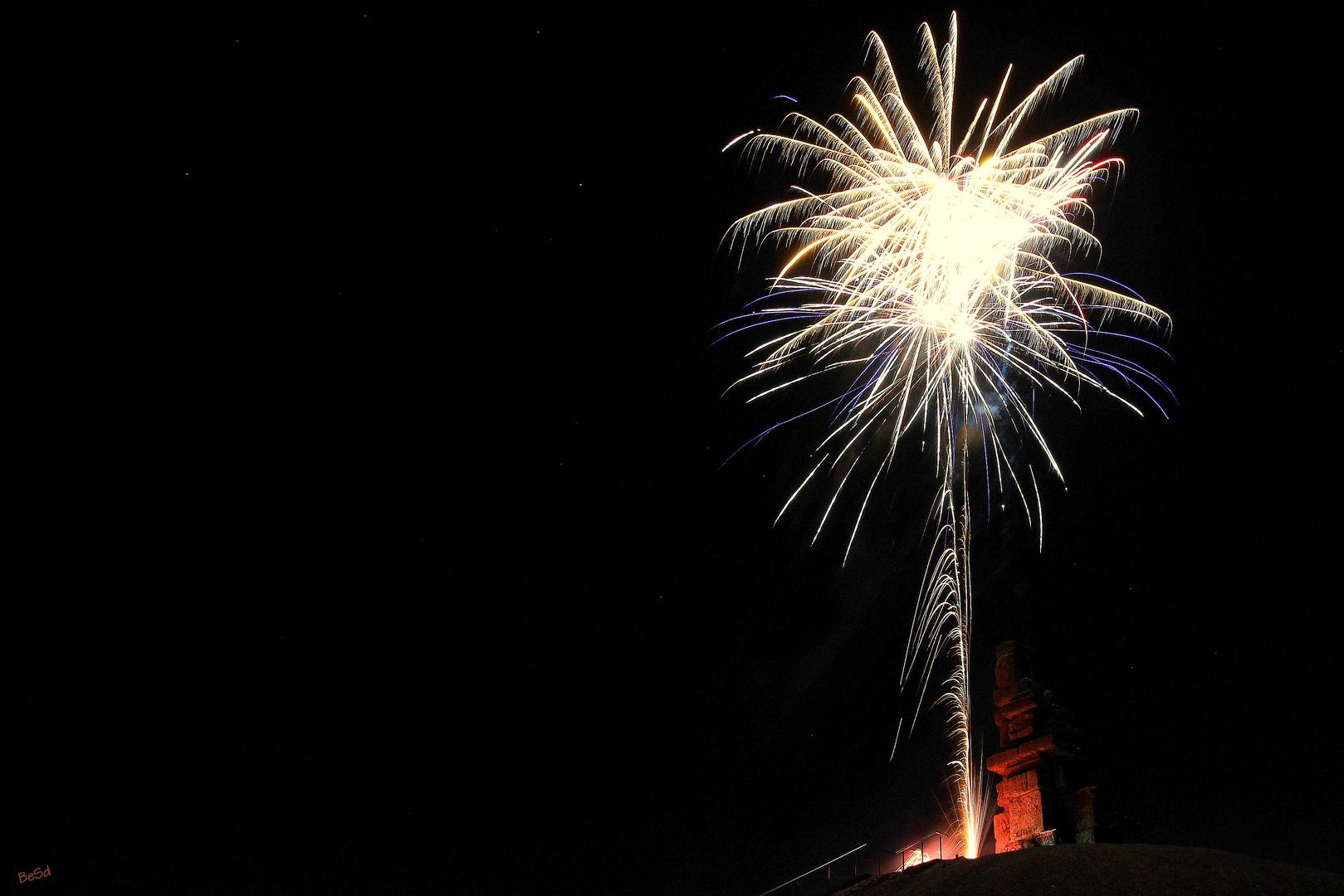 "Feuerwerk an der ""Himmelstreppe"""
