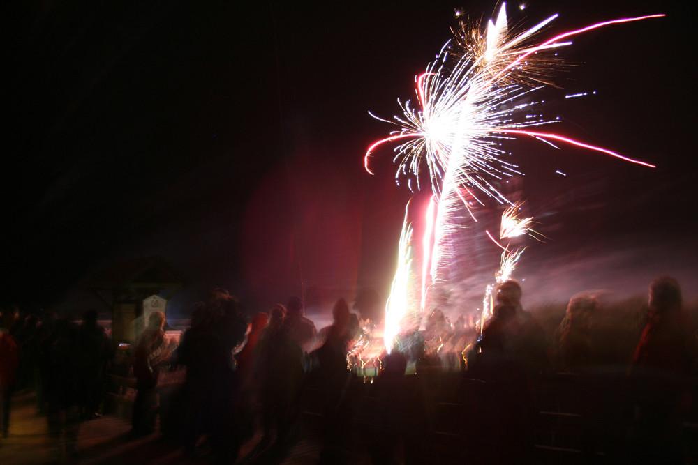 Feuerwerk an der Seebrücke Prerow