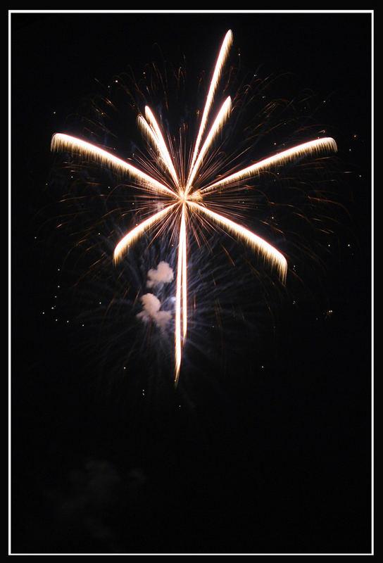 Feuerwerk auf dem Bodensee