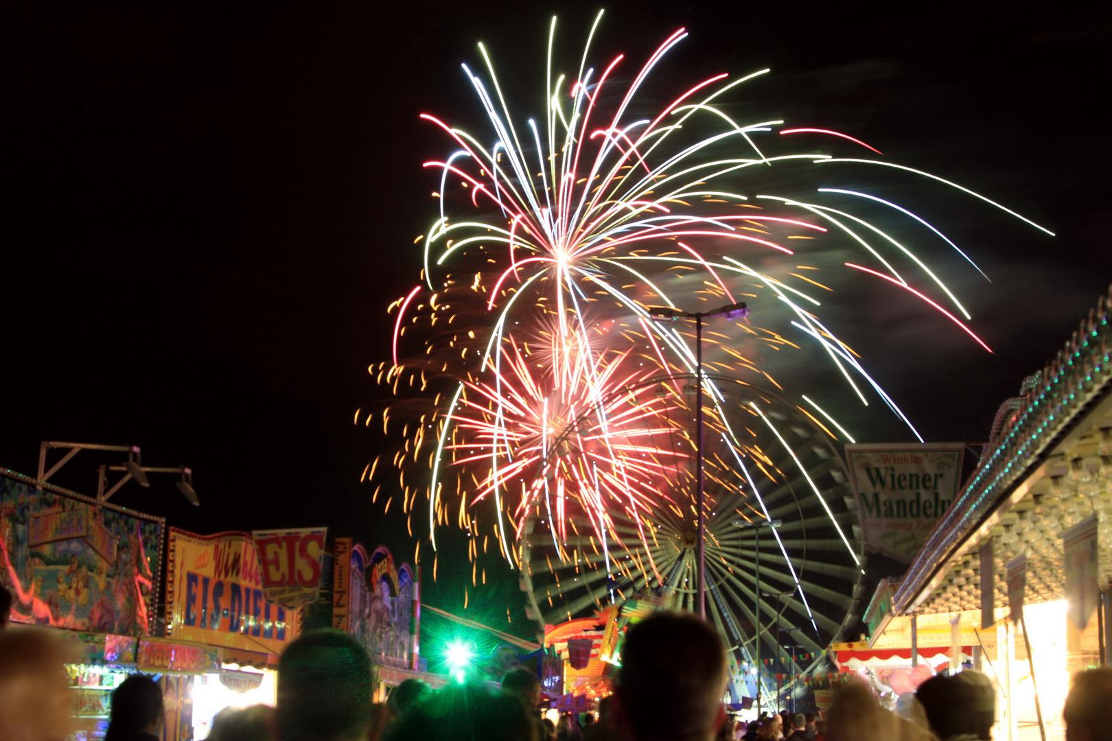 Feuerwerk auf dem Frühlingsfest