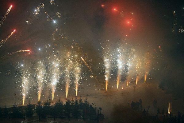 Feuerwerk auf Schalke beim Biathlon