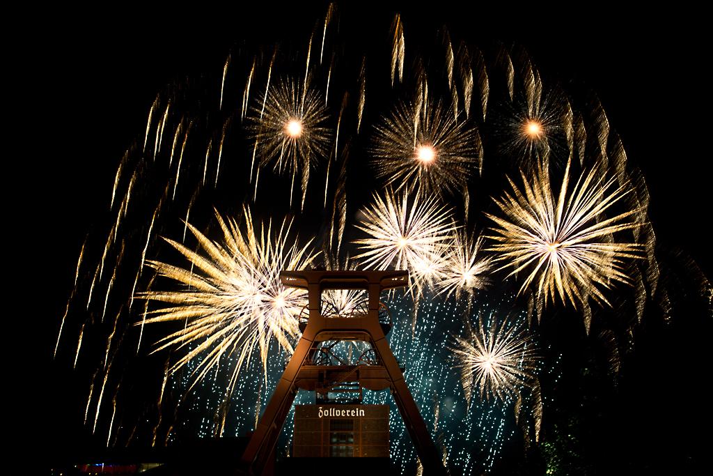 Feuerwerk beim Zechenfest