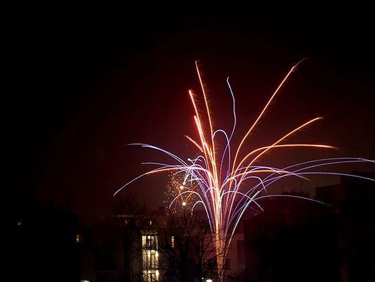 Feuerwerk - erster Versuch