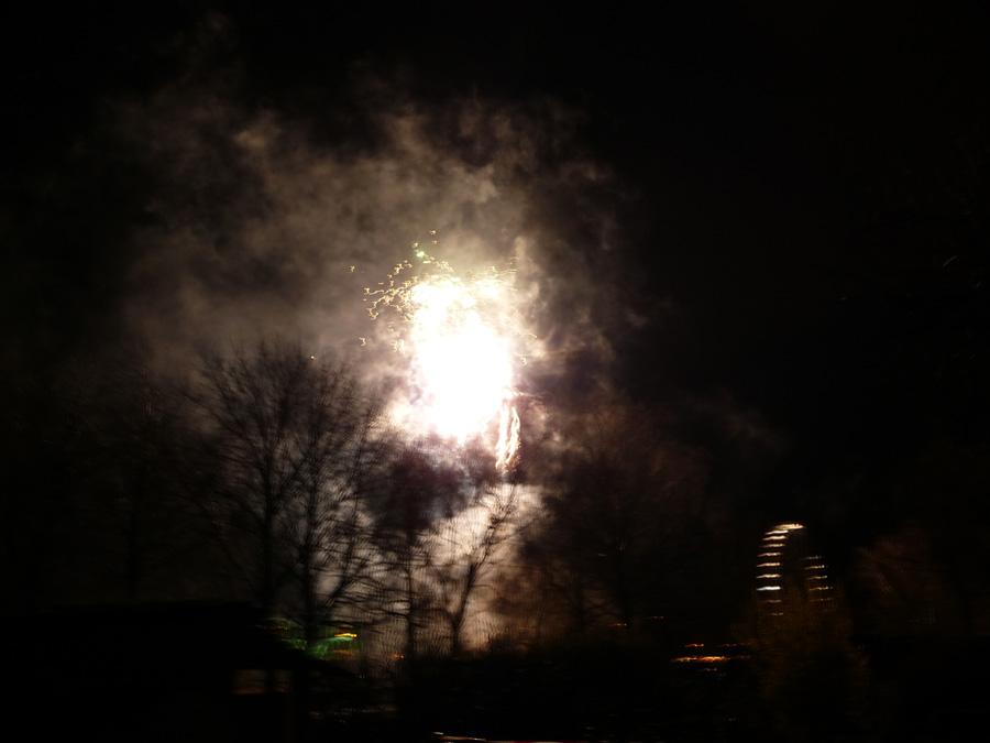 Feuerwerk frei Hand