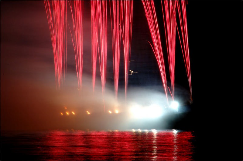 Feuerwerk gerade eben in Langenargen am Bodensee 2
