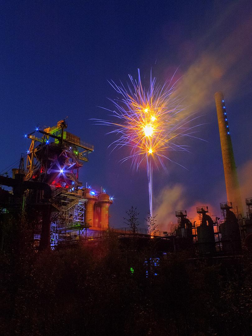 Feuerwerk im Landschaftspark Duisburg