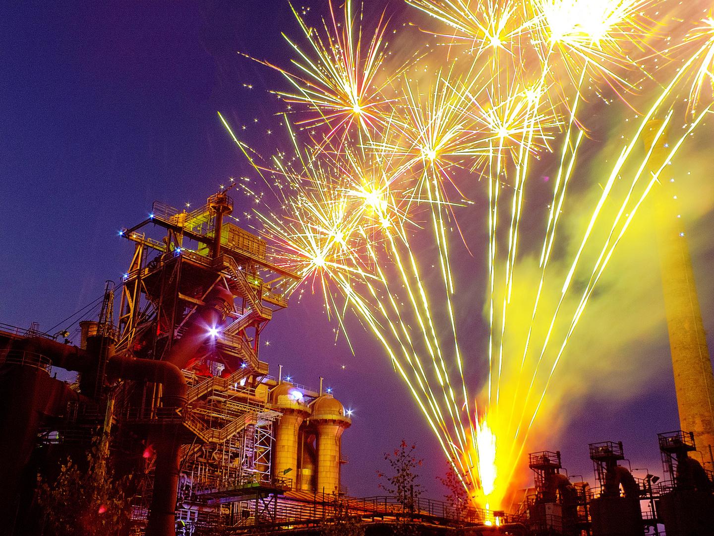 Feuerwerk im Landschaftspark Duisburg V