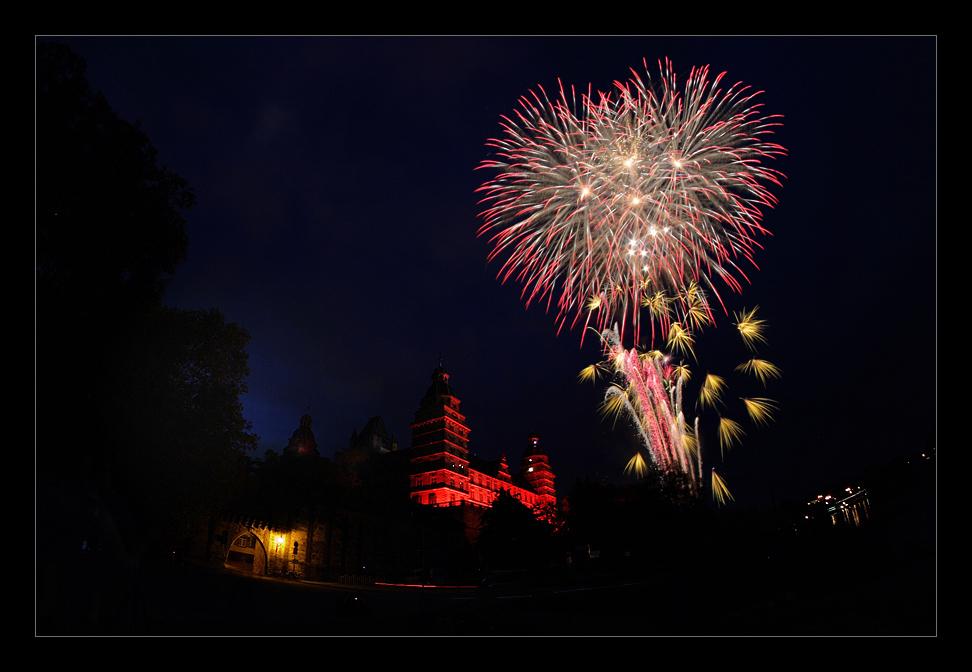 Feuerwerk in Aschaffenburg