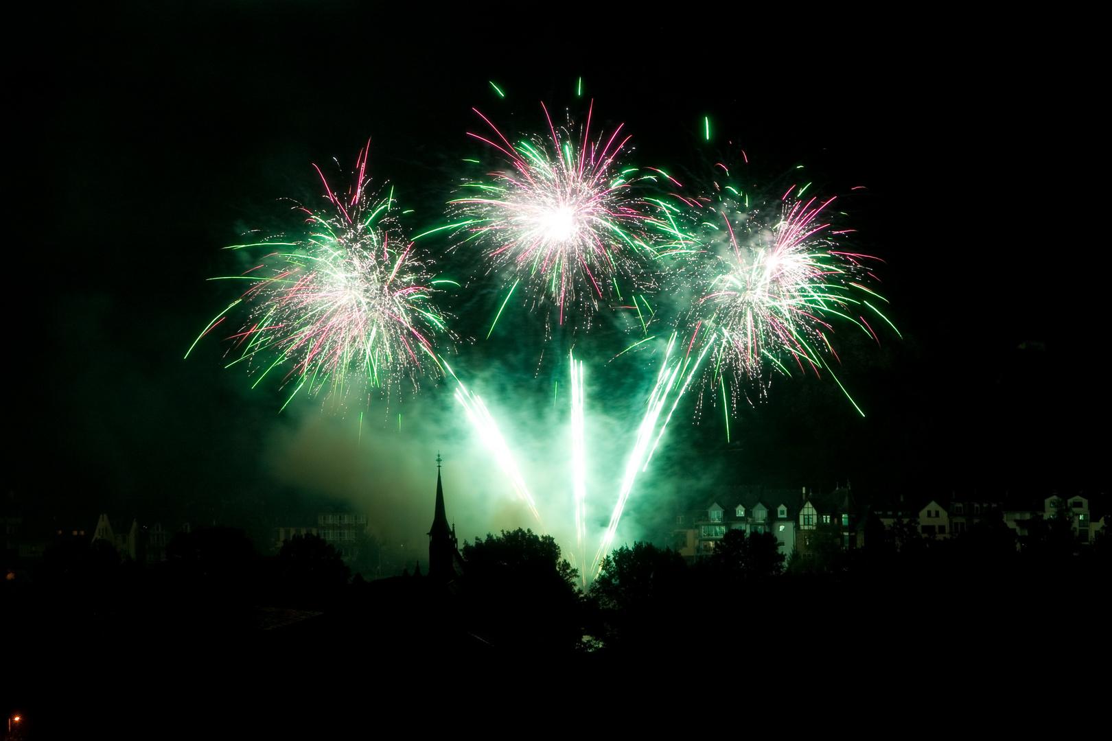 Feuerwerk in Bernkastel- Kues