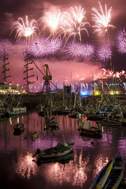 Feuerwerk in Brest