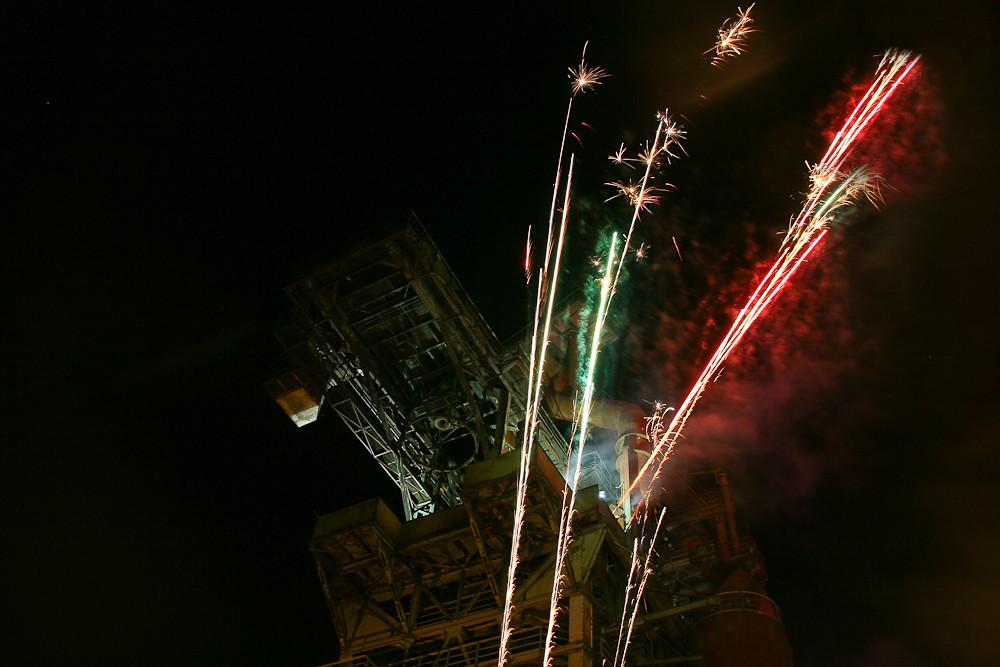 Feuerwerk in der alten Maxhütte
