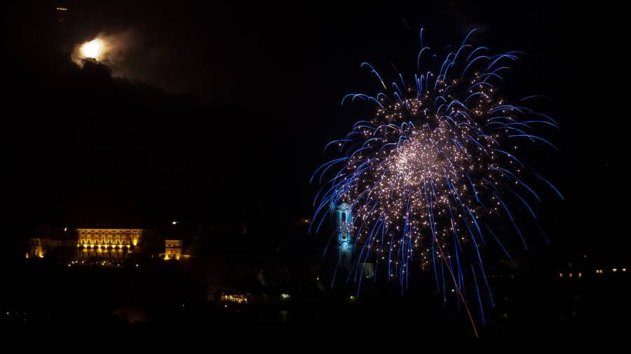 Feuerwerk in der Wachau