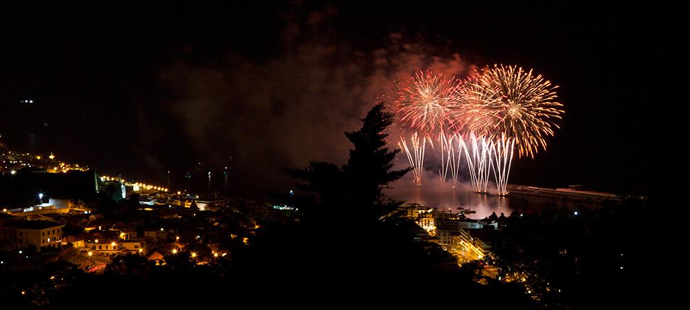 Feuerwerk in Funchal auf Madeira