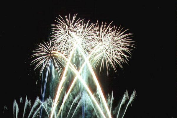 Feuerwerk in Hannovers Herrenhäuser Gärten 2001