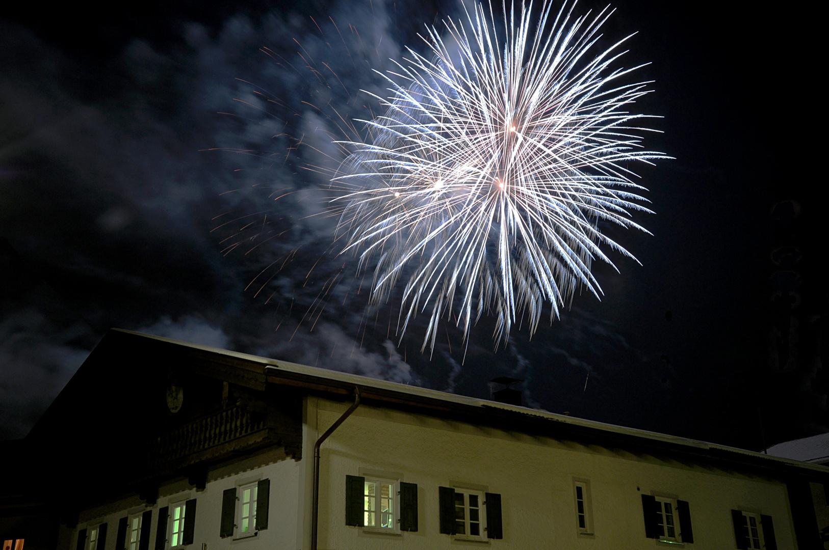 Feuerwerk in Miesbach Lichterglanz 2010