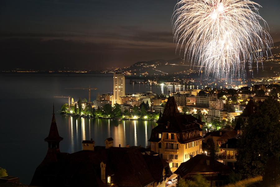 Feuerwerk in Montreux