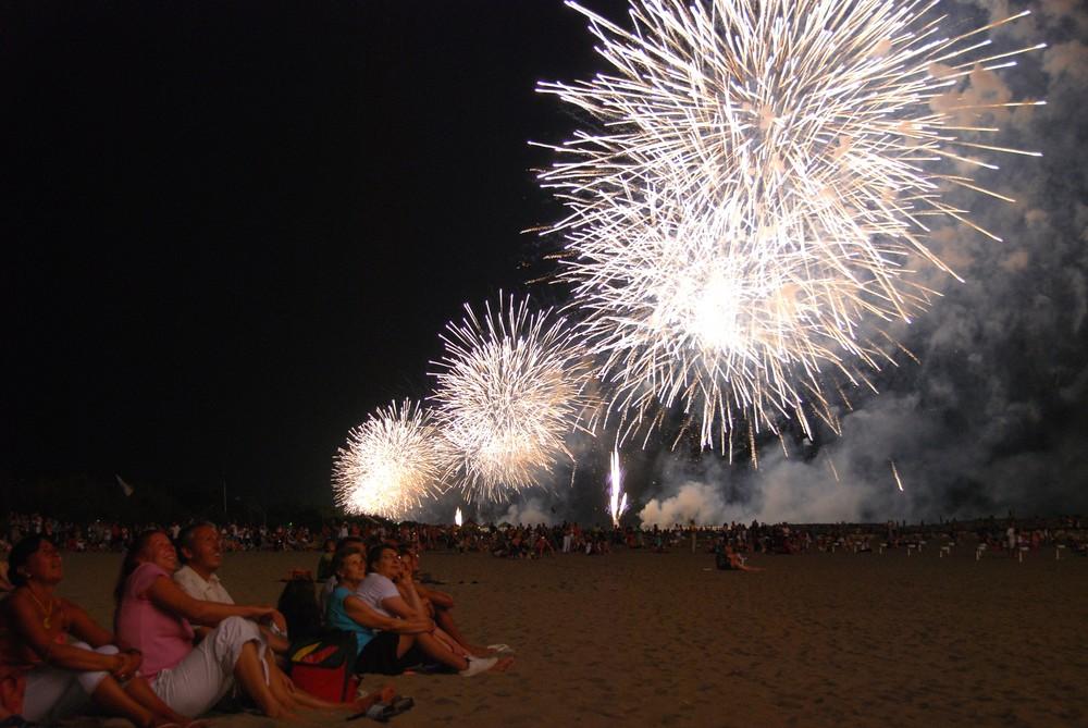 Feuerwerk in Serie