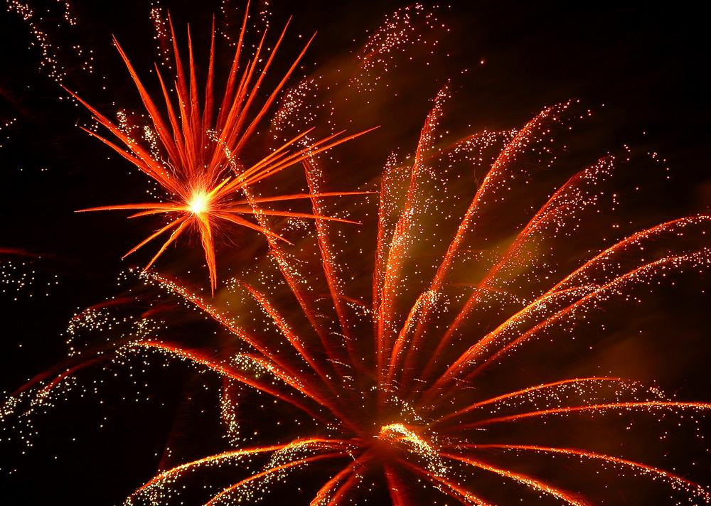 Feuerwerk Kalter Markt in Schlüchtern 2009