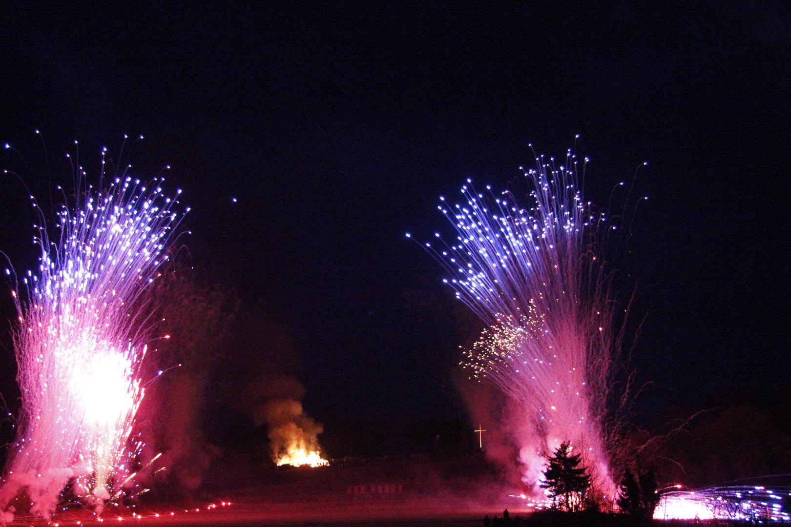 Feuerwerk Räderlauf in Lügde
