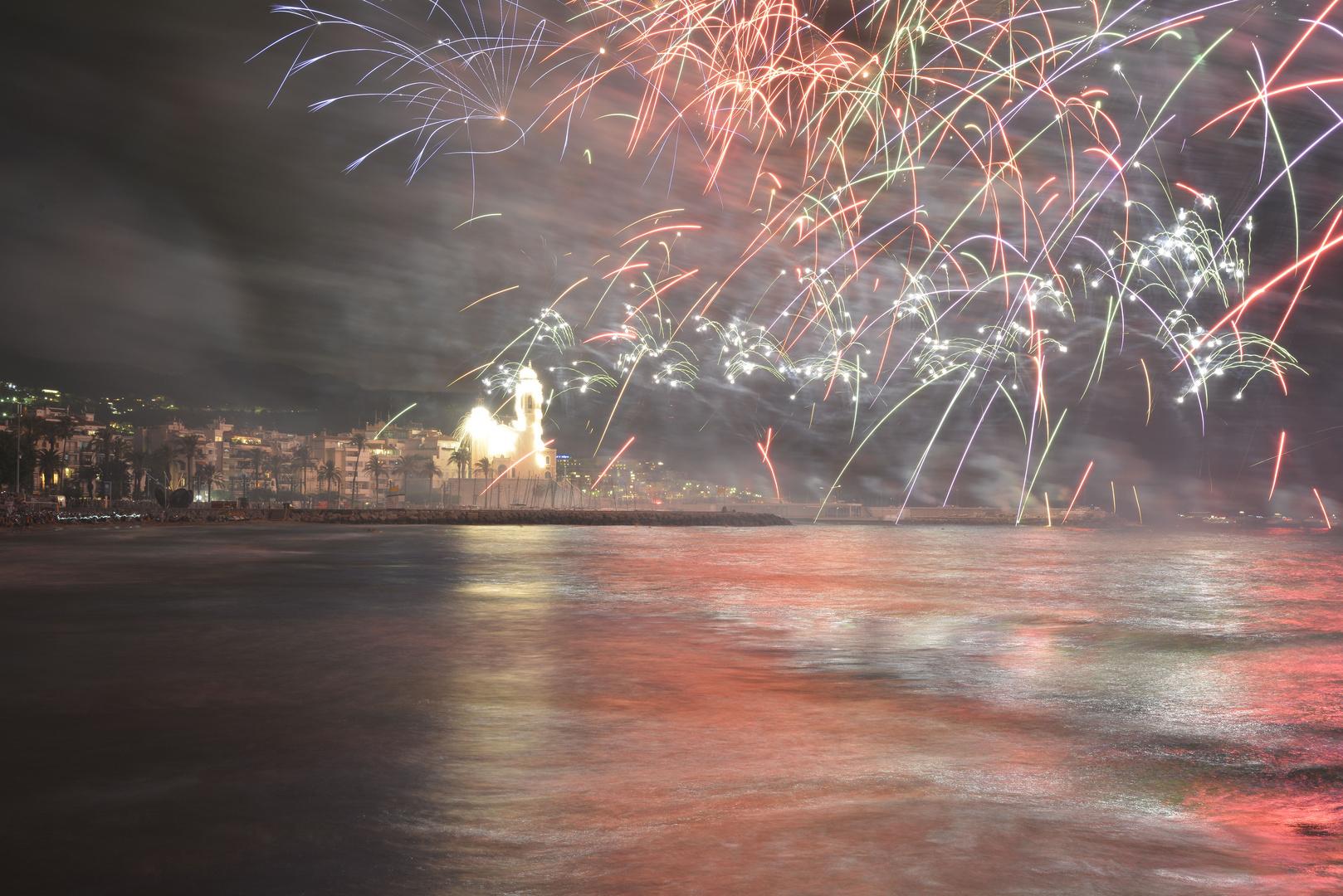 Feuerwerk Sitges