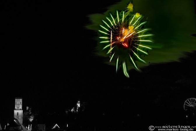 Feuerwerk über Biberach