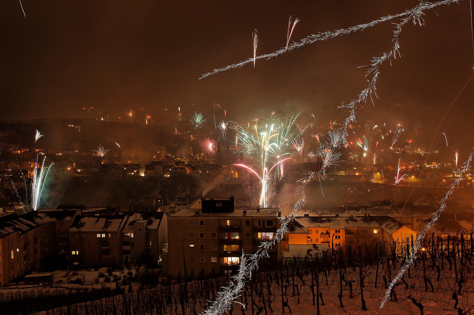 Feuerwerk über Bingen