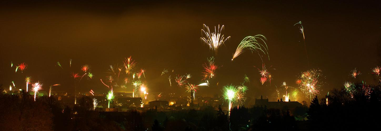 Feuerwerk über Dingelstädt