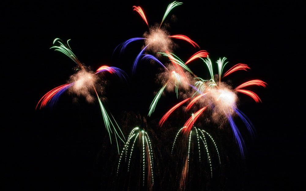Feuerwerk über Dresden
