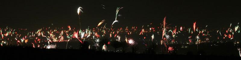 Feuerwerk über Eschweiler