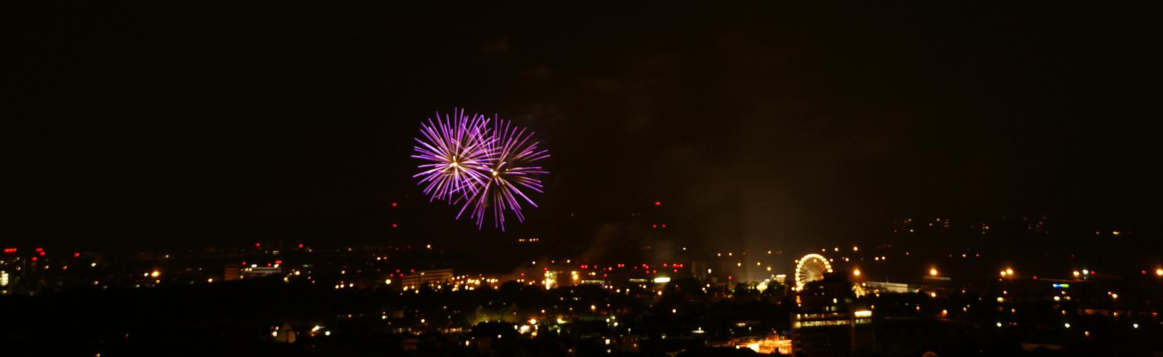 Feuerwerk über Freiburg