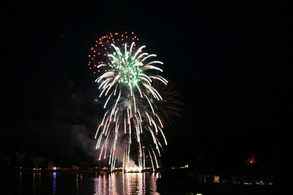 Feuerwerk über Köpenick