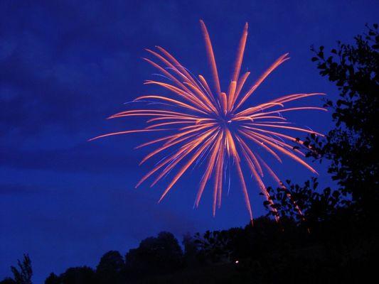 Feuerwerk über Unterkirnach