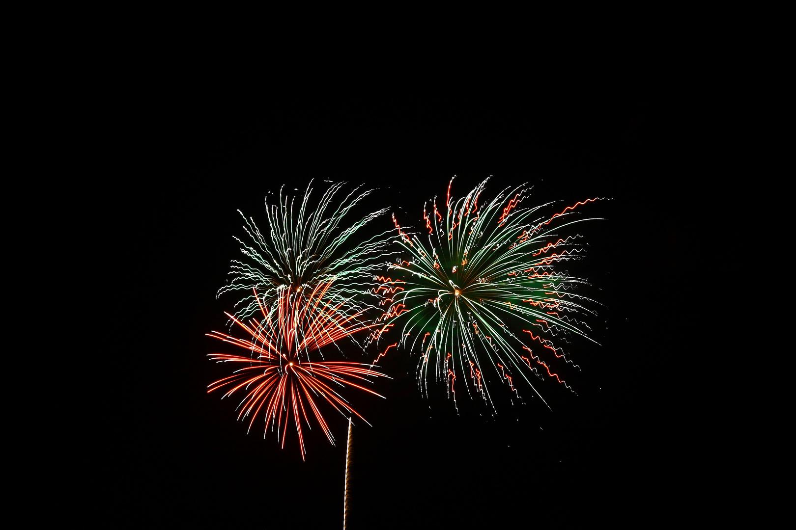 Feuerwerk vom Peitzer Fischerfest 2010