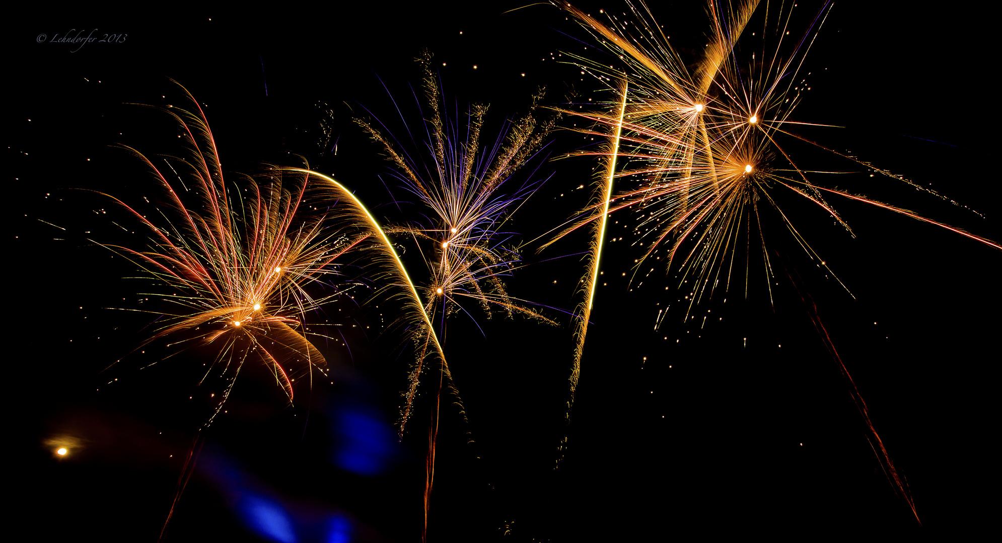 Feuerwerk zum 1250 jährigen Jubiläum meiner Heimatgemeinde