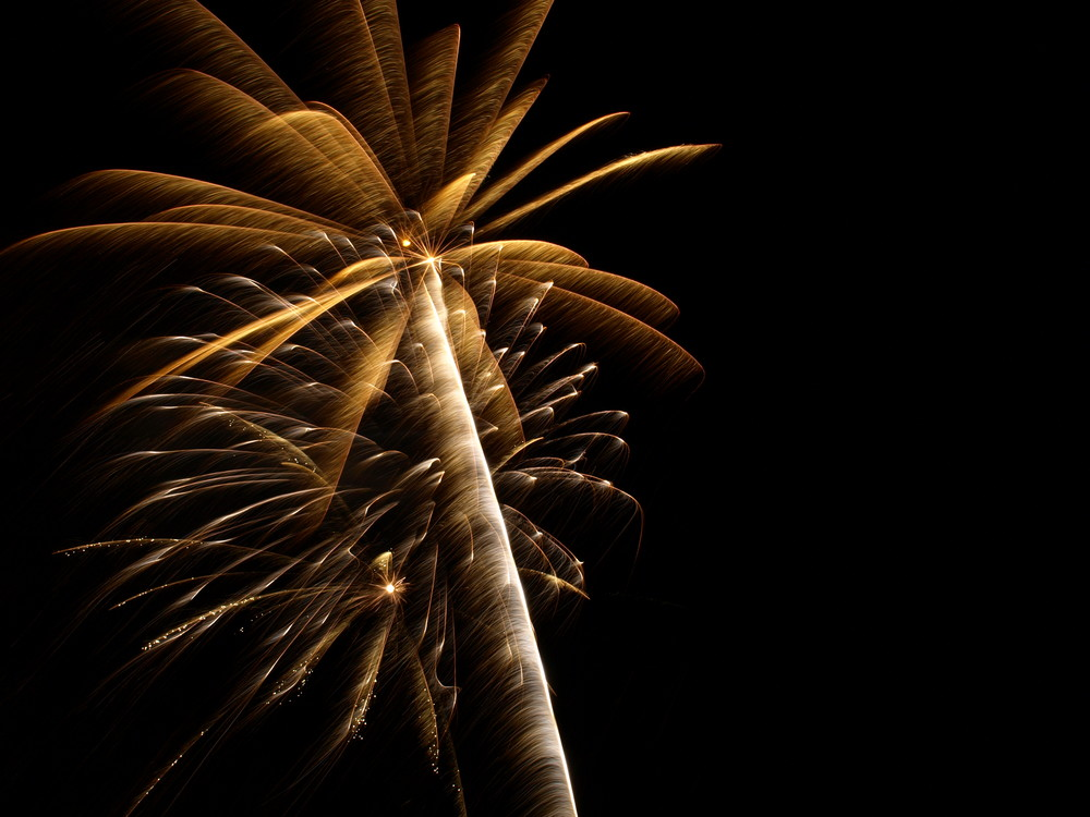 Feuerwerk zum dritten