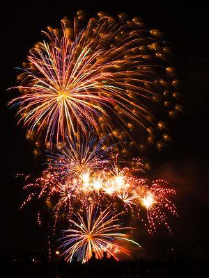 Feuerwerk zum Frühlingsfest