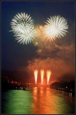 Feuerwerk/Schlossbeleuchtung in Heidelberg