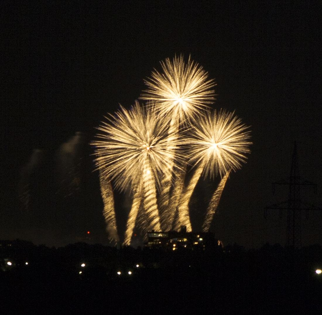 Feuerwerkswettbewerb in Hannover Herrenhausen