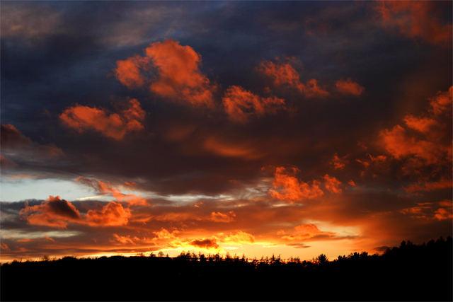 feurige Wolkenlandschaft