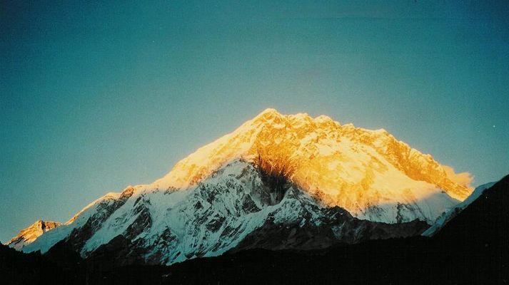 Feuriger Berg