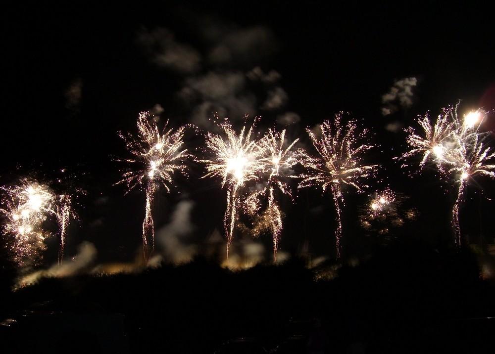 feux d'artifice 14 juillet 2006 cité de carcassonne