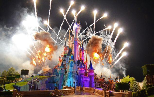 Feux d'artifices à Disney