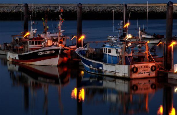 feux follets sur le port