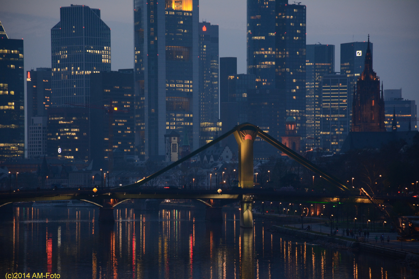FFM Skyline kompakt während der Luminale 2014