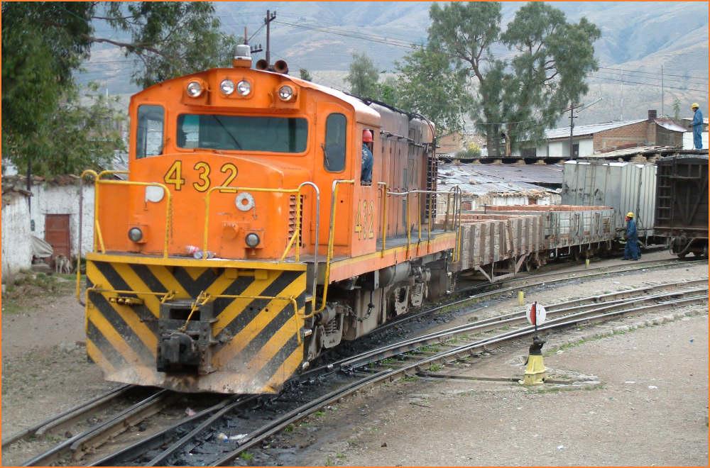 FHH im Bahnhof Huancayo
