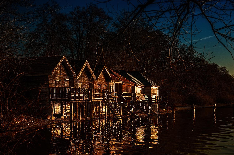 Fiascherhütten am Ammersee