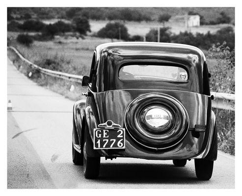 Fiat Balilla on the road