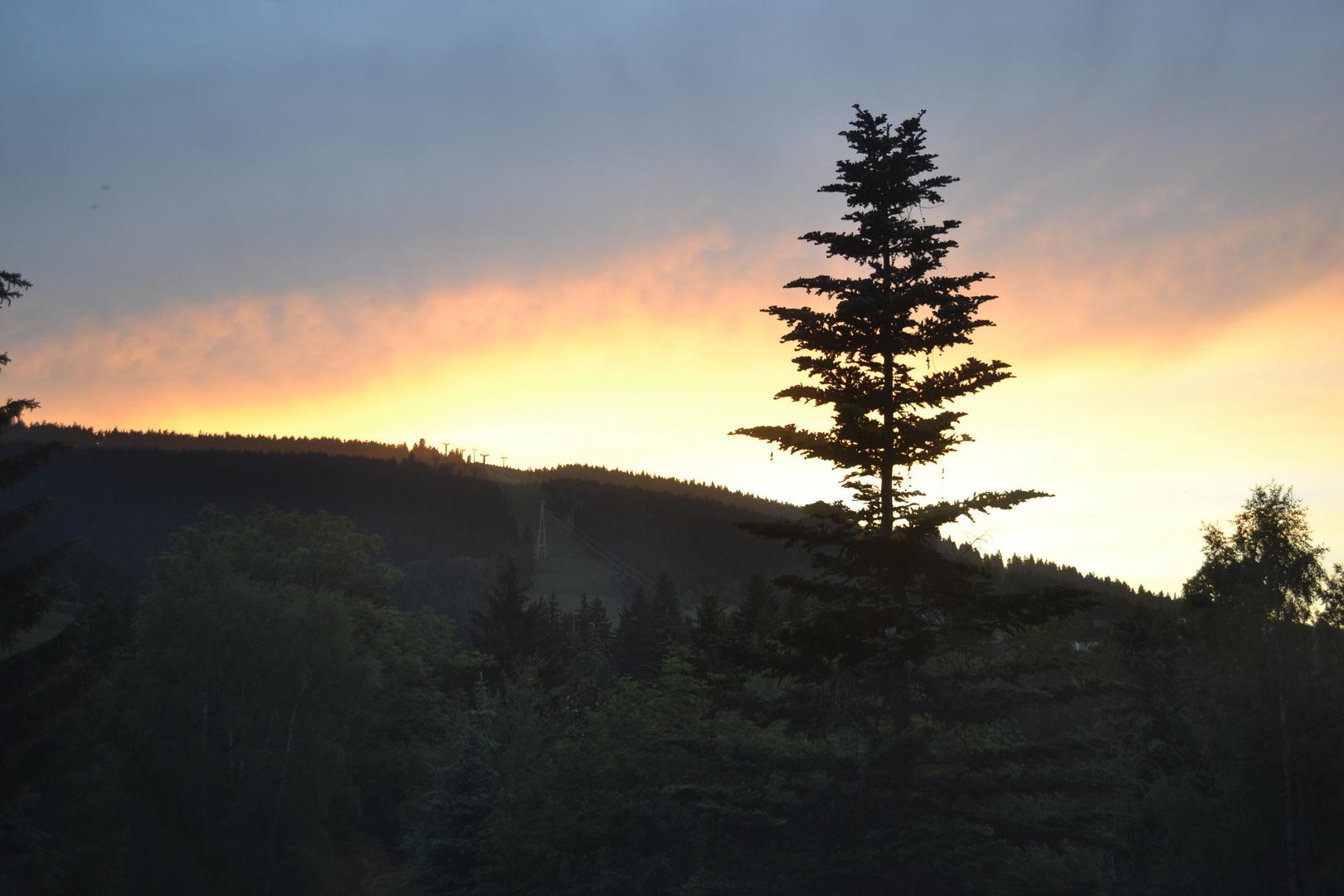 Fichtelberg in Flammen