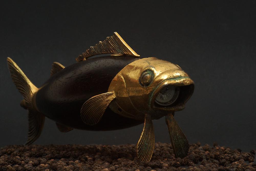 Figural Fish Pepper Mill Grinder von Tre Spade